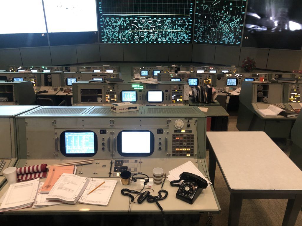 mock up of 1969 mission control