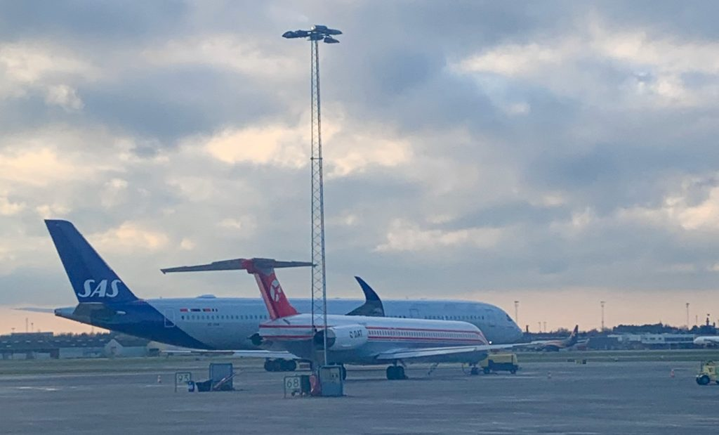 SAS New A350 spotted at Billund Airport 13 Dec 2019 MGarcia