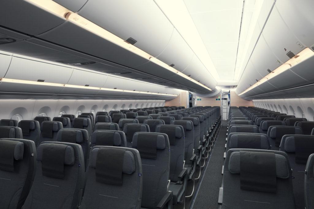 SAS A350 economy class aircraft interior