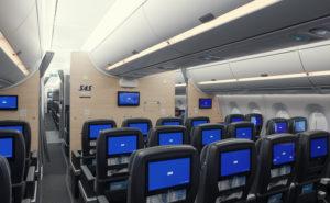 SAS Plus interior cabin of the aircraft A350