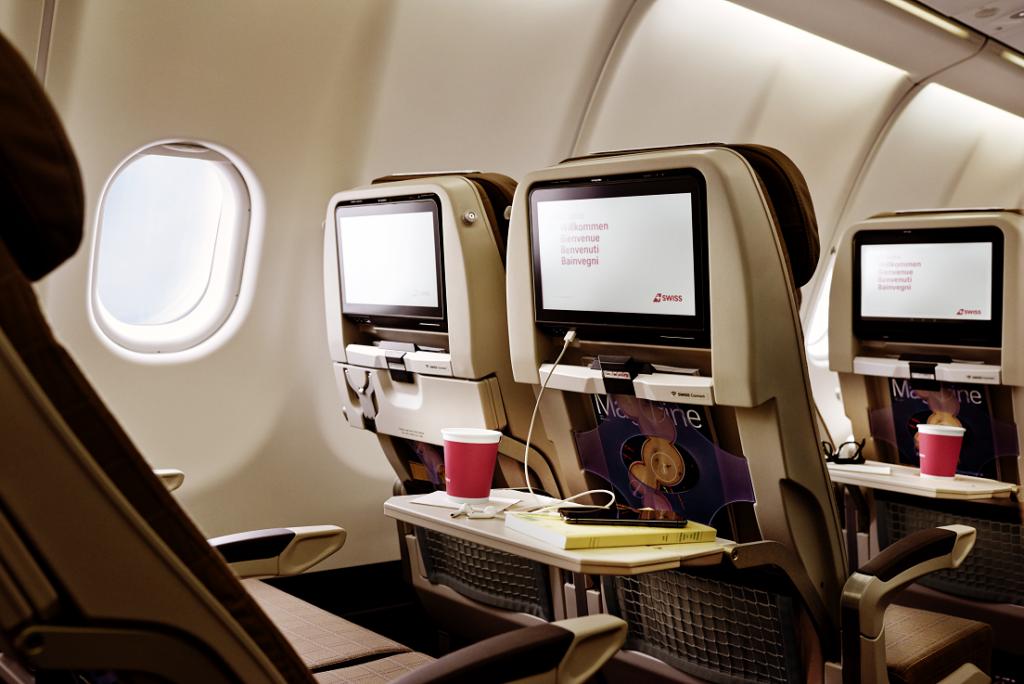 Swiss economy class seat