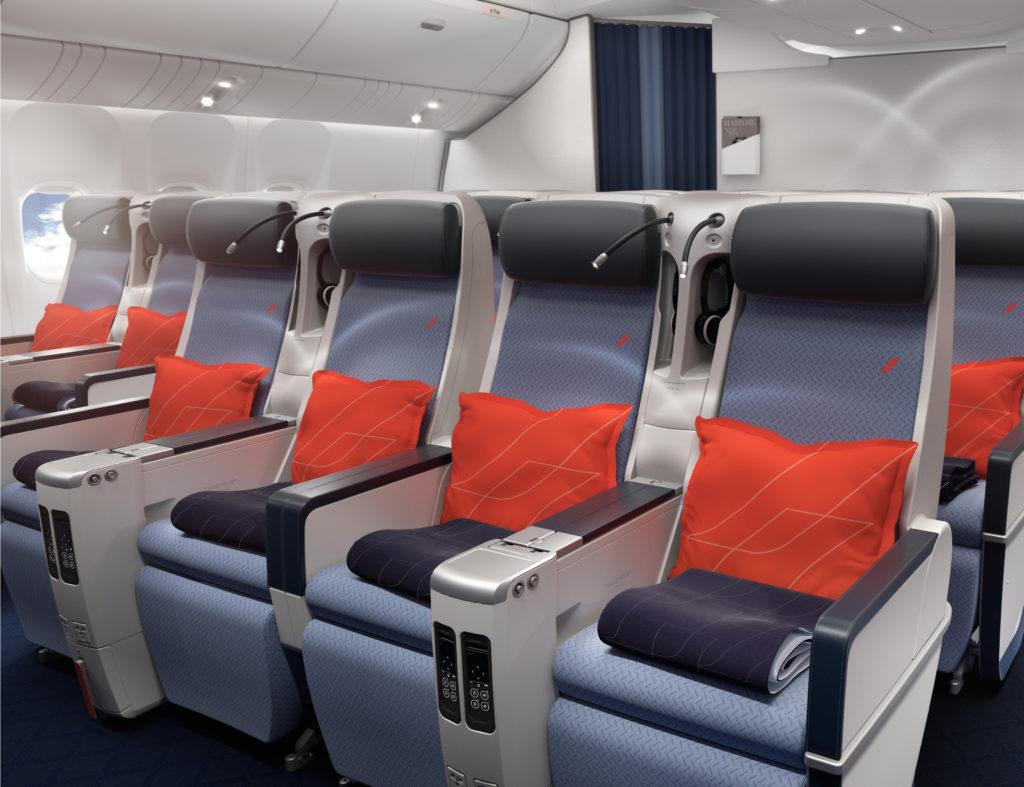 Air France Premium Economy seat and cabin interior