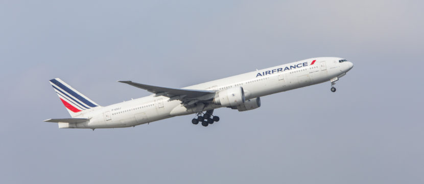 Air France Boeing 777-300 in take off