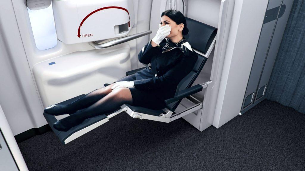 Collins Zero G Attendant Seat