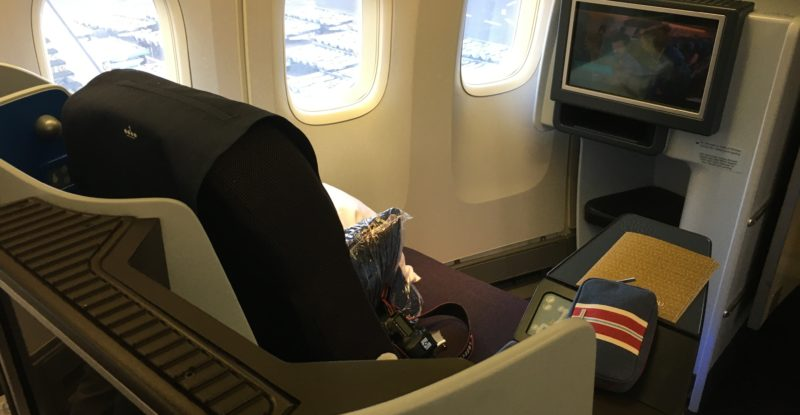 Business Class seat on KLM