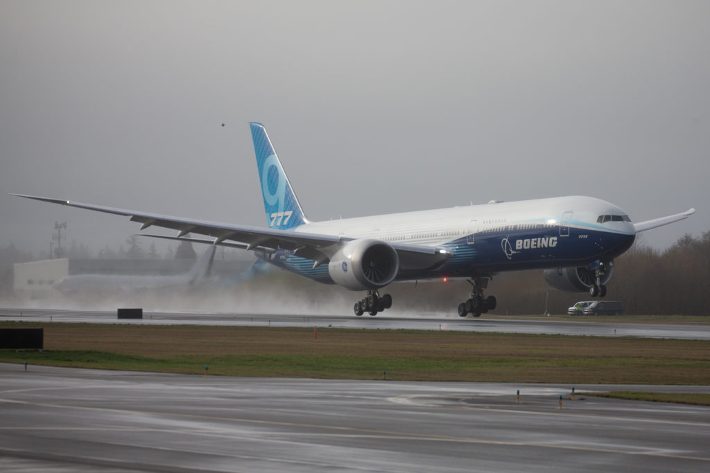 The moment the 777X took off for the very first time.
