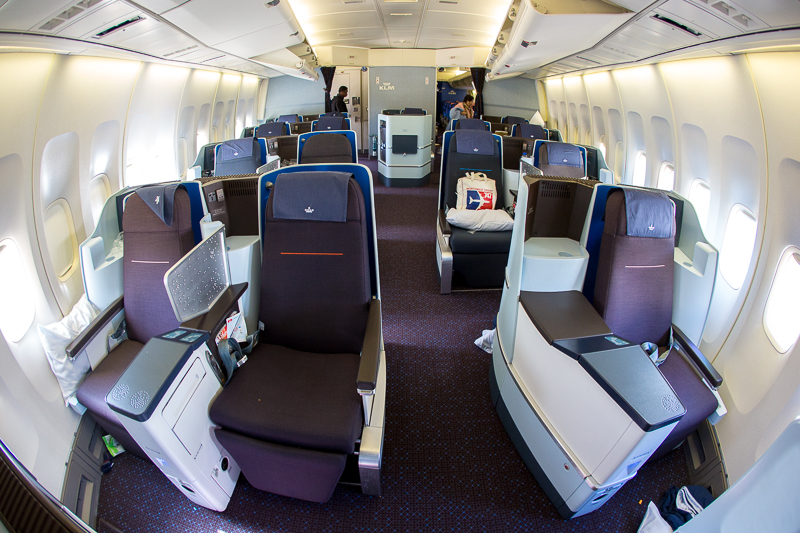 Business class on Boeing 747-400 combi KLM