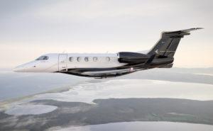 Embraer's Phenom 300 series inflight