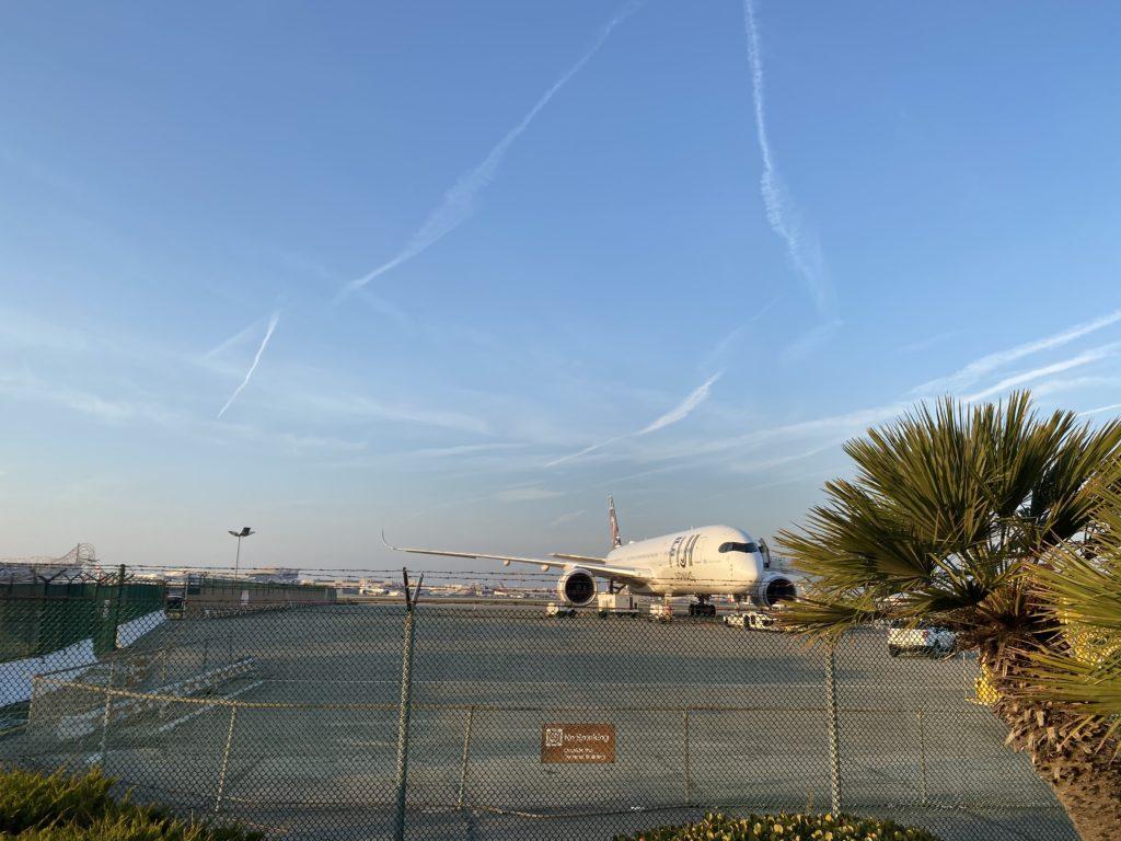 The Fiji Airways A350 XWB from afar