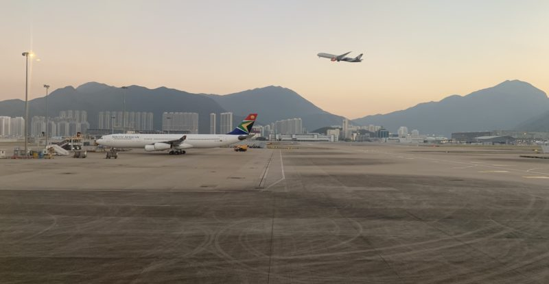 South African Airways has stopped serving HKG in the wake of the crisis.