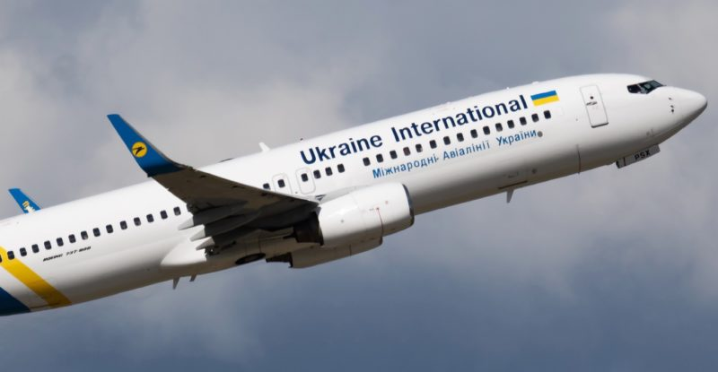 Ukraine International Airlines Boeing 737-800 in flight