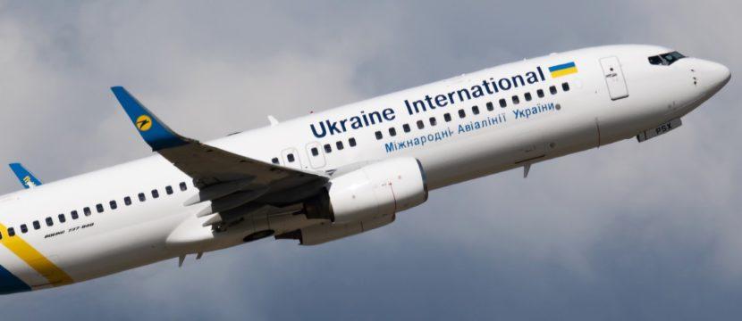 Ukraine International Airlines Boeing 737-800 in flight