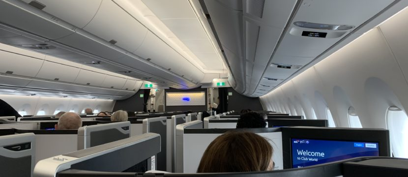 cabin interior of an business class section in an aircraft