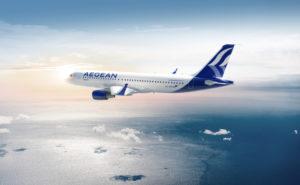 Aegean aircraft in-flight
