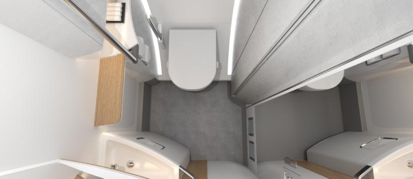 ACCESS Lavatory interior ariel view