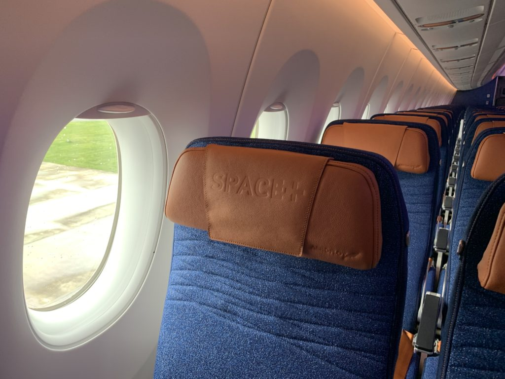 An extra legroom Space+ seat on the Aeroflot A350