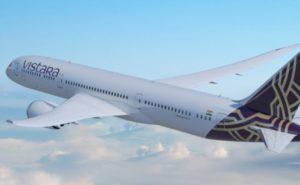 Boeing 787 in Vistara livery
