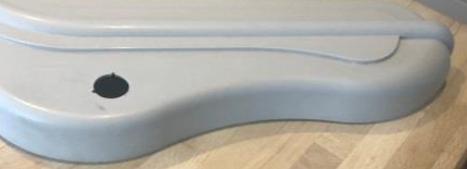 A clean plastic surface