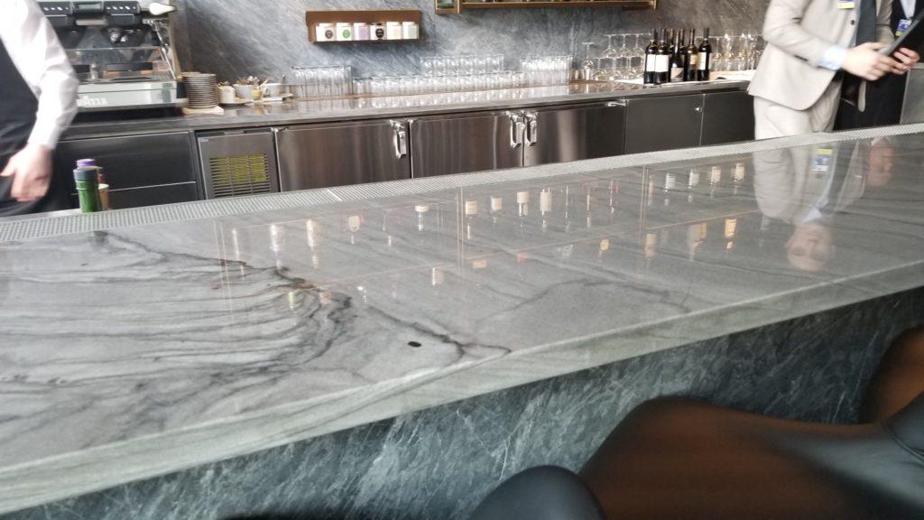 Marble slab bar top