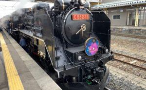 A classic steam engine in black