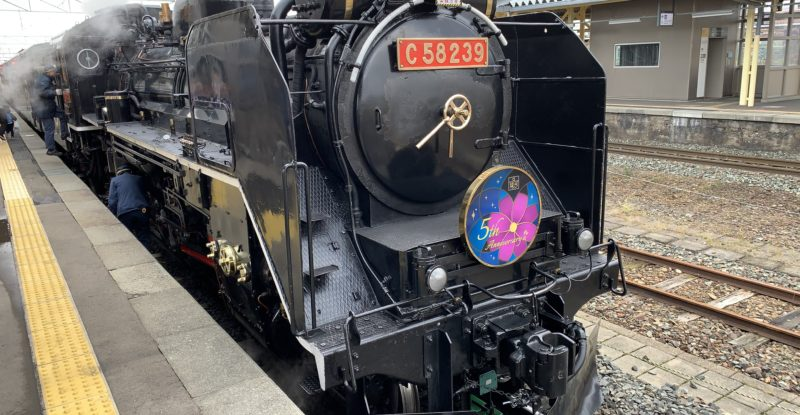 A classic steam engine in black