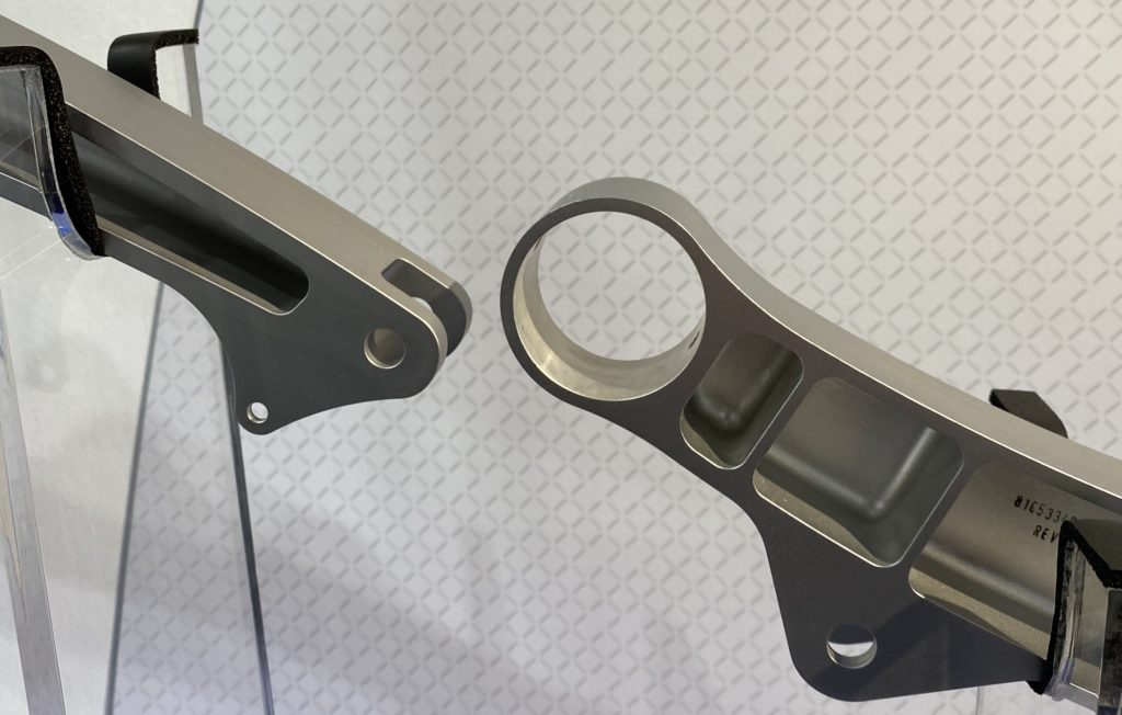 Depending on lighting and the person, magnesium alloy (right) may have a subtle yellow tint.