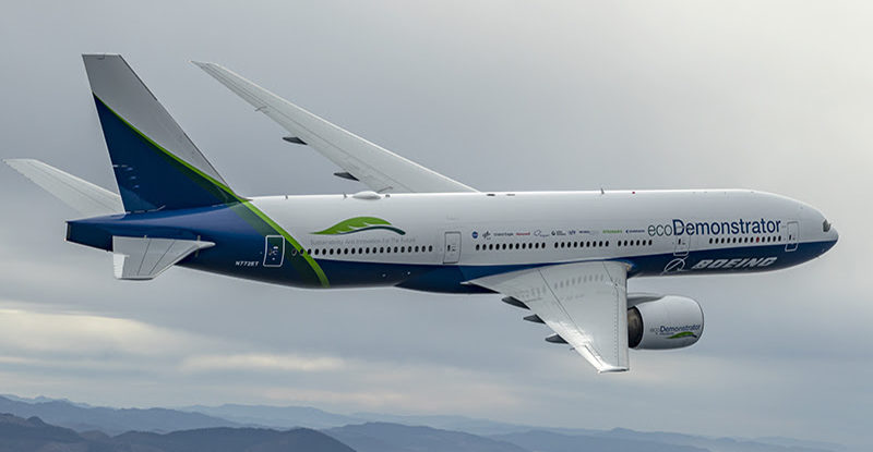 The Boeing Company, Boeing Test and Evaluation, Flight Operations, 777-200, ecoD, ecoDemontrator, Air 2 Air
