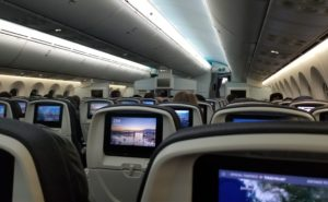 Seatback IFE on board a widebody aircraft
