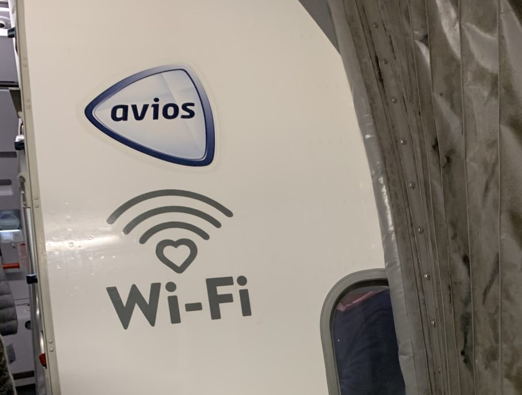 "The Vueling aircraft had the word ""Wi-Fi"" plastered on the side as shown in the photo, but there was no Wi-Fi to be found on board"