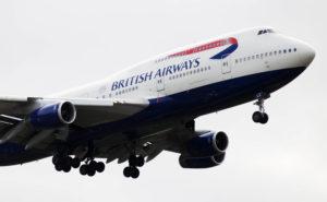 A BA 747 in-flight