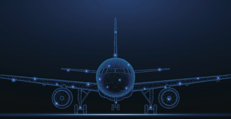 Rendering of an aircraft in digital form