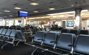 Empty seats at the gate at BWI