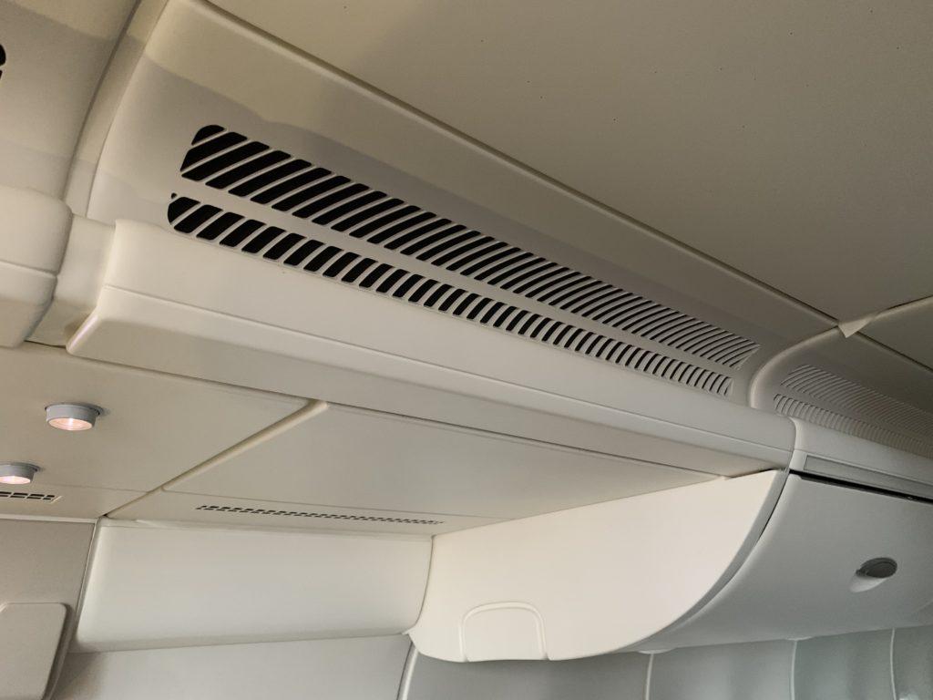 Overhead bins on board a Diehl mock-up