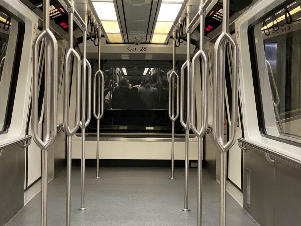 An empty tram car