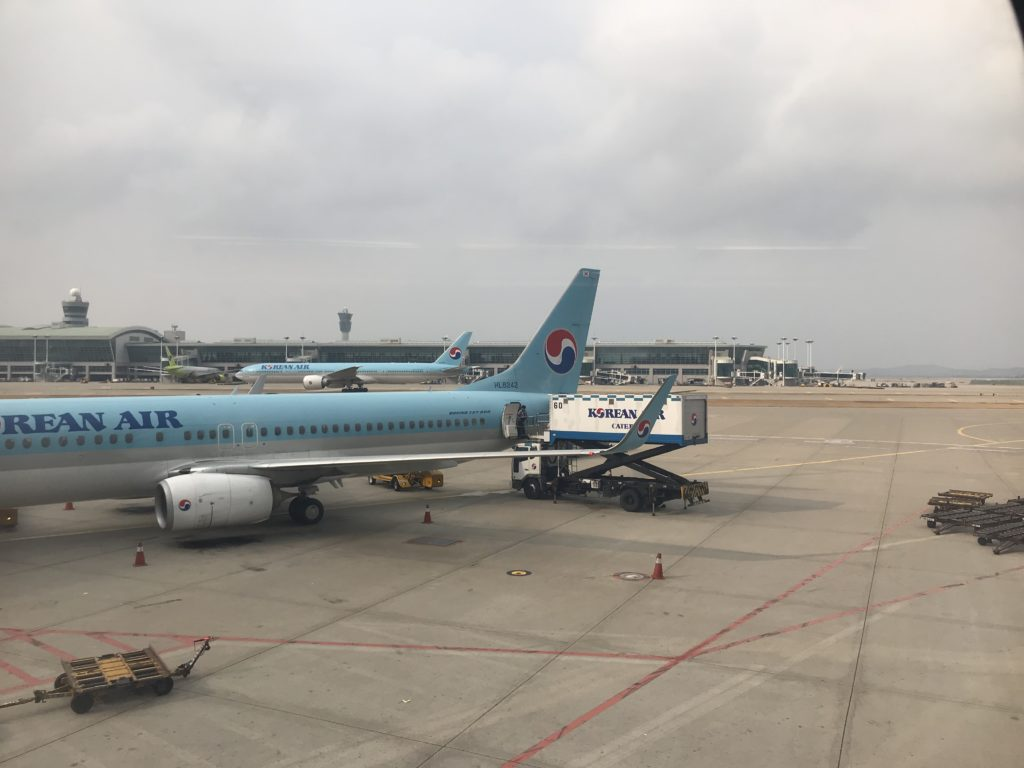 Korean Air aircraft on the ground at the airport