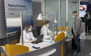 Lufthansa-Testcenter in Terminal 2