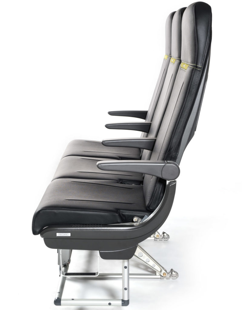 A photo of the Recaro SL3510 slimline shows a minimalist approach