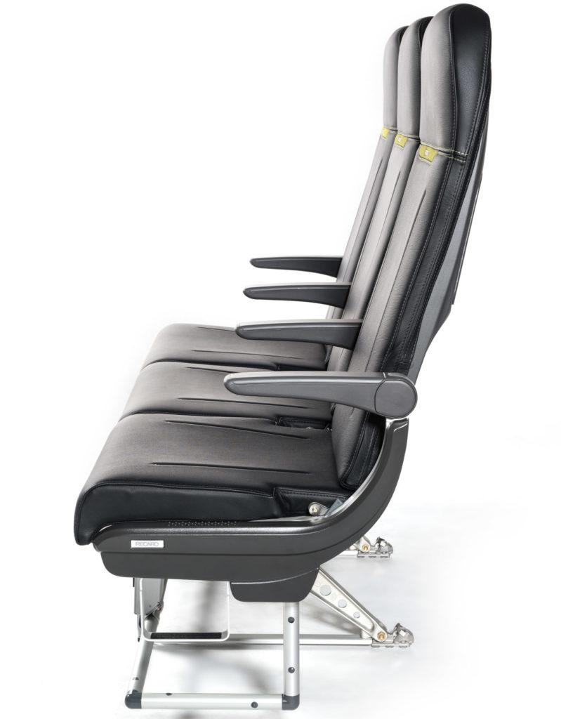 A photo of the Recaro SL3510 slimline shows a minimalist approach