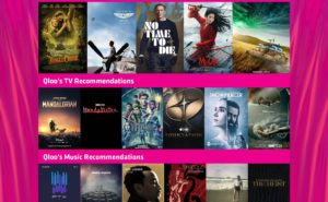 Image of different movie selections from Qloo