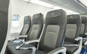 Slimline seats aboard a Lufthansa A320