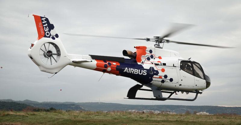 Airbus flightlab helicopter landing