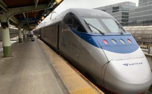 The current Acela train