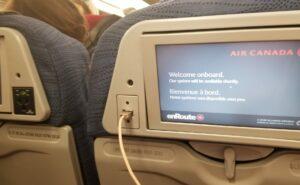 Air Canada seatback IFE