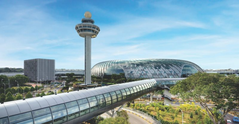 Changi Airport Control Tower and Jewel Changi Airport