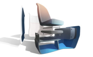 A computer rendering showing the separate parts of Airtek, the new JPA herringbone in which composites feature prominently