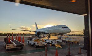 Delta's 757-200, N6715C, basking in a Caribbean sunset