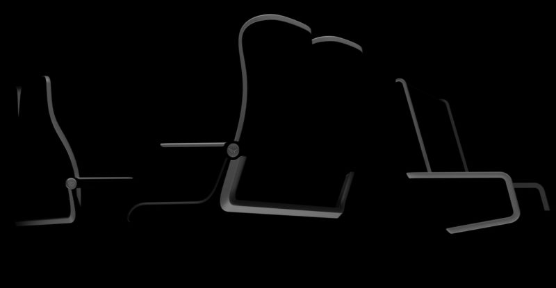 Mainly all black image with slight light grey lines showing outline of what is coming. Teaser image by Geven.