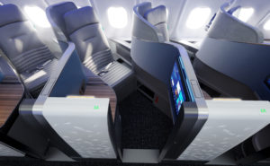 A top down view of the new Vantage Solo suite on JetBlue