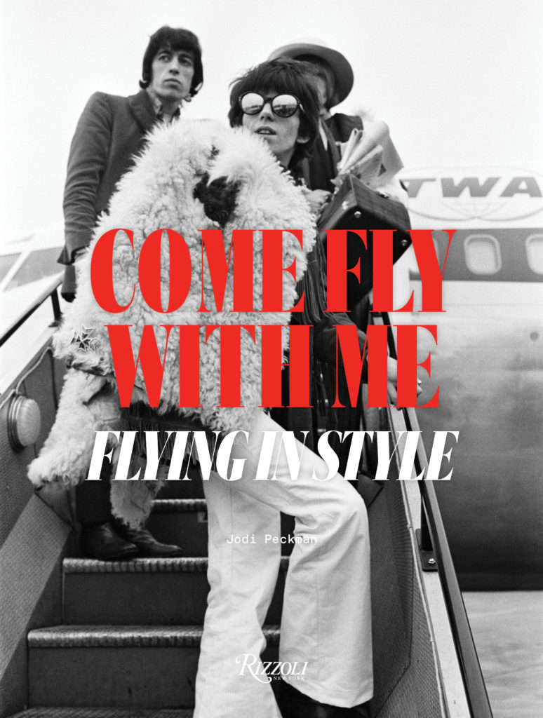 Come Fly With Me book cover with a celebrity climbing an aircraft stairway