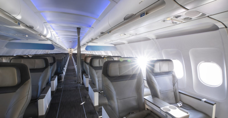 CL4710 in aircraft with blue led lighting cast on it.